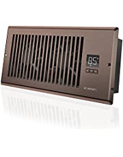 AC Infinity AIRTAP T4, Quiet Register Booster Fan with Thermostat Control