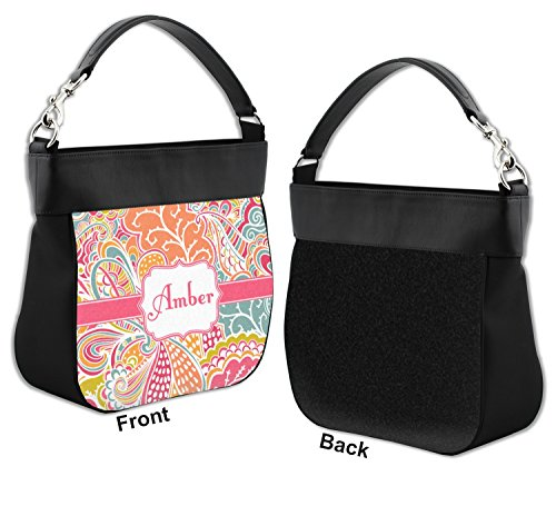 Trim Hobo Purse Front Foliage Leather Personalized Abstract w Genuine wYC55q
