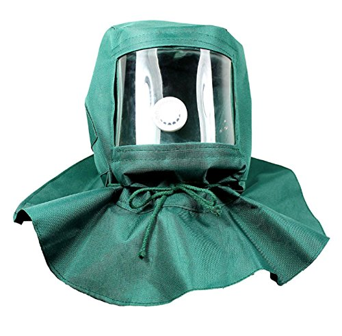 Hood Cap Full Sand Blasting Anti Wind Dust Protective Face Mask Green free shipping