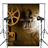 5 x 7 ft Movie Film Reels Background Movie Projector Picture Photography Backdrop Studio Props Wall Backdrop PB103