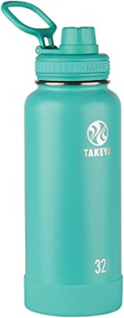 Takeya 32oz Actives Insulated Stainless Steel Water Bottle with Spout Lid