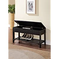 ACME Xio Black Bench with Storage