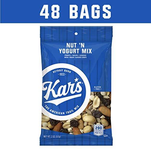 Kar's Nut 'N Yogurt Trail Mix Snacks - Bulk Pack of 2 oz Individual Single Serve Bags (Pack of 48)