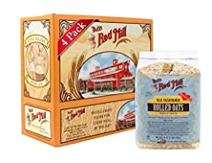 Bob's Red Mill Old-Fashioned Rolled Oats are 100% whole grain and kiln toasted. Prepare on the stove or in the microwave for a delicously versatile and hearty bowl of oatmeal. We encourage creativity with your choice of toppings: try mascarpone chees...