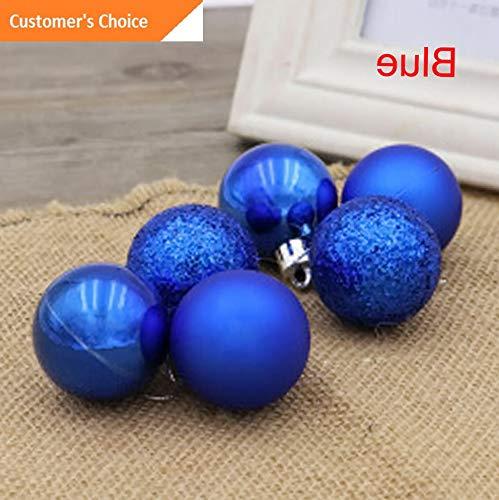 Hebel 24PCS Christmas Tree Xmas Ball Decoration Baubles Xmas Party Ornament Pretty | Model DCRTVBLL - 126 | 6CM ()