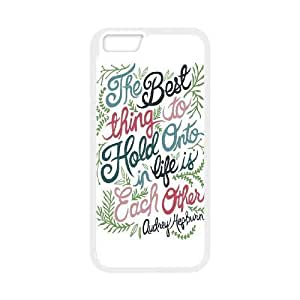 Audrey Hepburn Quote Unique Design Cover Case with Hard Shell Protection foriphone 6 4.7