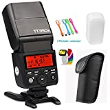 Godox TT350S 2.4G High-Speed Sync 1/8000s TTL GN36 Wireless Master/Slave Speedlite Flash Light Compatible Sony Mirrorless Digital Camera(TTL autoflash)+ CONXTRUE LED USB