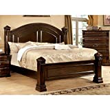 Four Poster Bed King Furniture of America Lexington Low-Poster Bed, Eastern King, Cherry