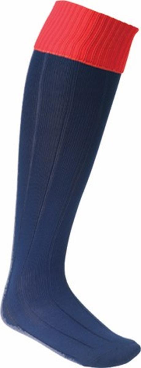 ユーロソックスKnee High Running Sock Pack Of 2 B014XT6VIS ネイビー / レッド Large boys Youths