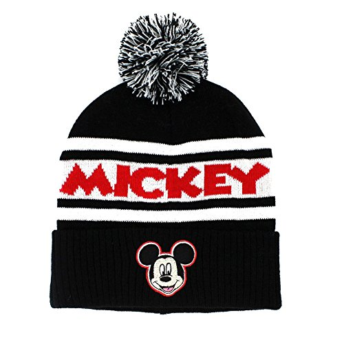 Concept One Mickey Mouse Embroidered Cuff Pom - Mickey Mouse Hoodie Hat