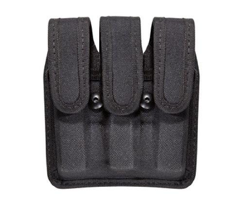 Bianchi Patroltek 8045 Black Hidden Snap Slimline Triple Magazine Pouch (Size 2)