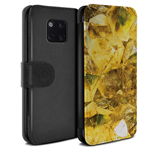 (eSwish PU Leather Wallet Flip Case/Cover for Huawei Mate 20 Pro/November/Topaz Design/Birth/Gemstone Collection)