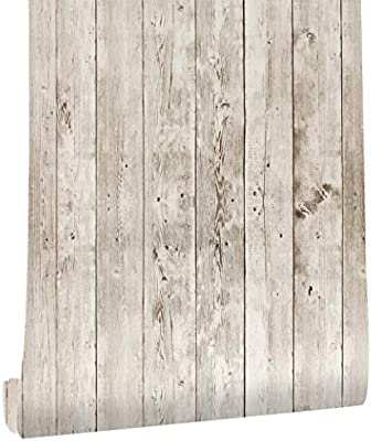 Haokhome 5023 Faux Distressed Wood Plank Peel And Stick Wallpaper Brown Wheat Black 17 7 X 19 7ft Self Adhesive Contact Paper Buy Online At Best Price In Uae Amazon Ae