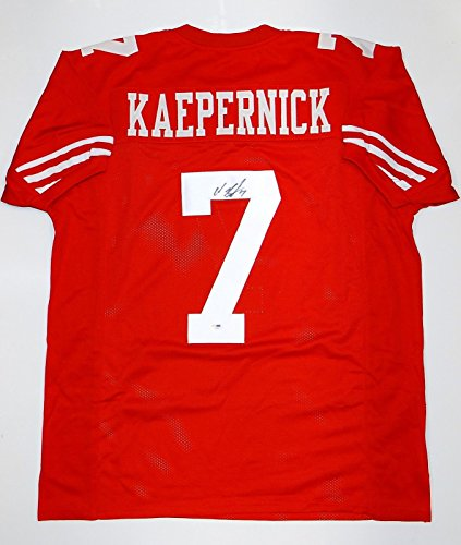Autograph Authentic Style Jersey - Colin Kaepernick Autographed Red Pro Style Jersey- PSA/DNA Authentication