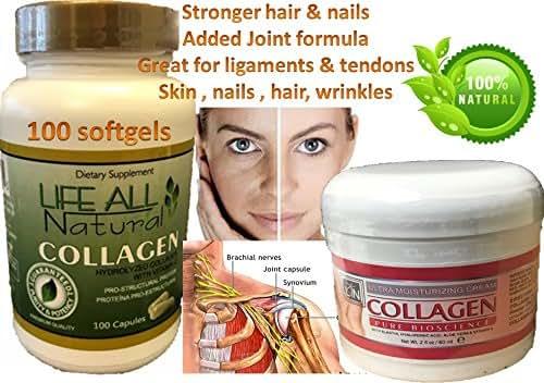 1 Collagen + Vitamin C Hydro Colagina Xxi Hidrolized Collagen Hidro Colageno with collagen cream 4oz