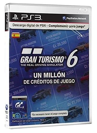 Sony - Tarjeta PSN GT6 - 1 Millón De Créditos (PS3): Amazon ...