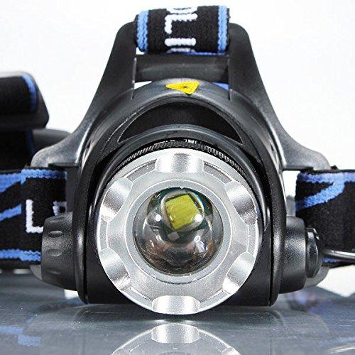 Moppi Luz de la bici de la bicicleta xml t6 LED faro faro con zoom ajustable para la cabeza