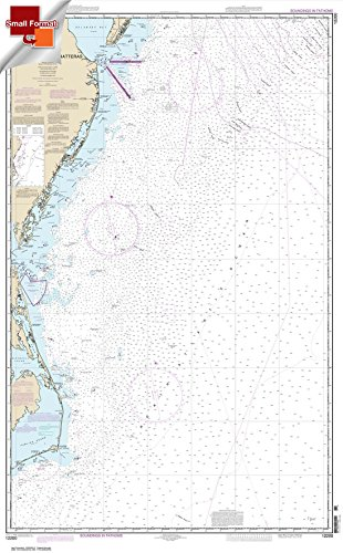 Paradise Cay Publications NOAA Chart 12200: Cape May to Cape Hatteras 21.00 x 33.88 (SMALL FORMAT WATERPROOF)
