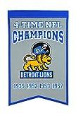 NFL Detroit Lions 4 Time Champions Banner, One Size, Multicolor