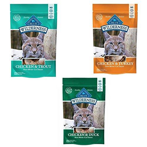 Blue Buffalo Cat Treats Combo Pack 3-2 oz