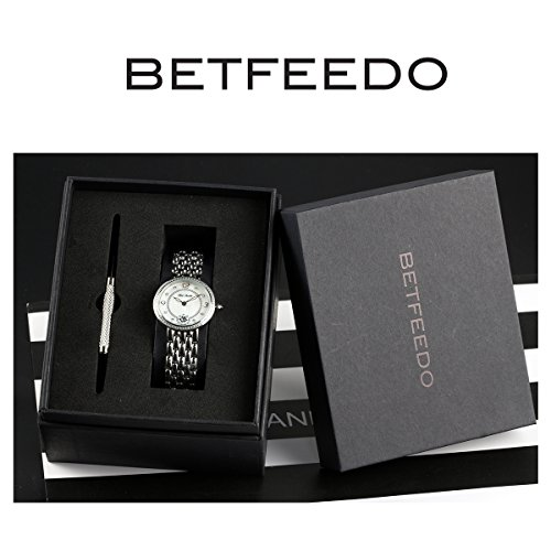 BETFEEDO-Womens-Watch-Rose-Gold-Rhinestone-Fashion-Casual-Dress-Stainless-Steel-Analog-Quartz-Watches