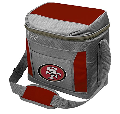 NFL San Francisco 49ers 16 Can Soft-Sided Cooler with Ice, Red (Nfl 24 Can Cooler compare prices)