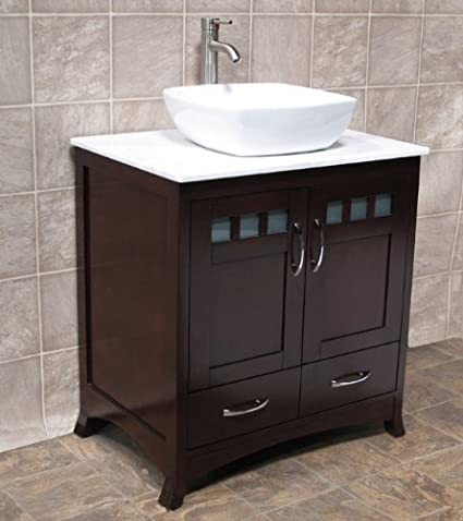 Amazon Com Elimax S Solid Wood 30 Bathroom Vanity 30 Inch