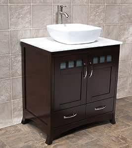 "Amazon.com : Elimax's Solid Wood 30"" Bathroom Vanity 30 ..."