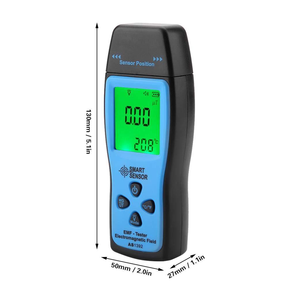 Medidor de campo magn/ético TACKTIMES Detector de medidor EMF recargable Detector de radiaci/ón de campo electromagn/ético Mini LCD digital Detector de radiaci/ón EMF