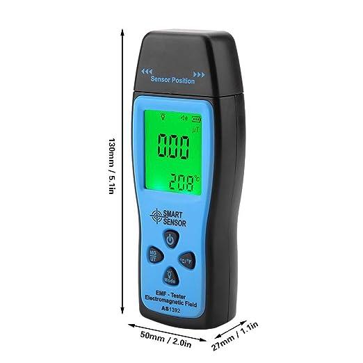 SMART SENSOR Medidor EMF Detector de Radiación de Campo Electromagnético para Pruebas de radiación de campo eléctrico y magnético mG uT(AS1392): Amazon.es: ...