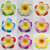 50piecs Foam Floating Frangipani/Plumeria Flower Mix color