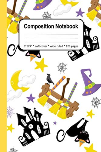 Halloween Writing Activities For Elementary Students (Composition Notebook For Girls Halloween Witch Cat: Creative Writing Journal Primary Elementary Book Student)