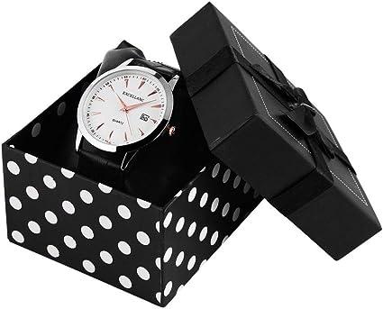 Reloj Funda Reloj Buzón Relojes Caja de cartón para Reloj de Pulsera Regalo Reloj: Amazon.es: Relojes