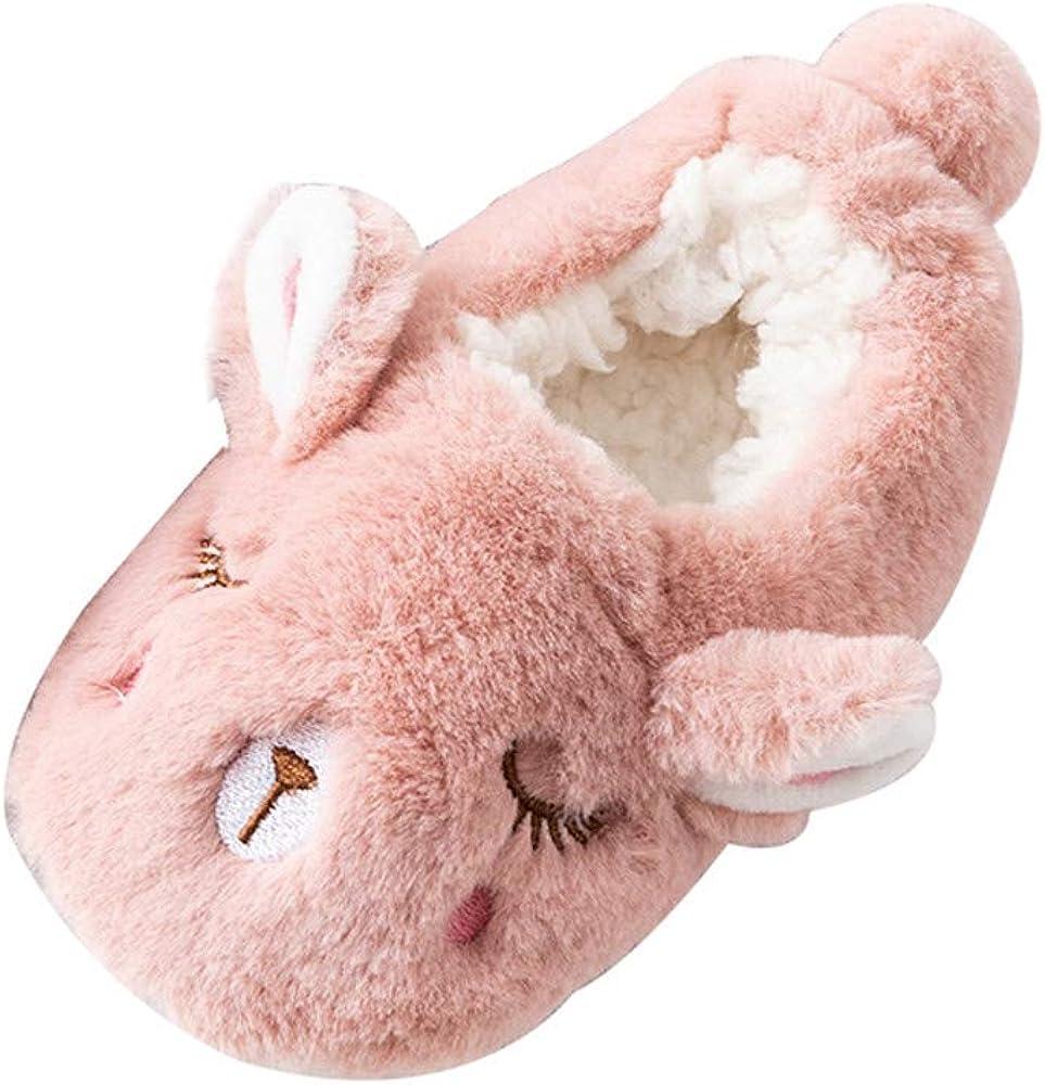 Amlaiworld Enfant Peluches Pantoufles Hiver Doux et Chaud Chaussons Antiderapant Dessin Anim/é Chaussures en Coton pour Enfant Fille Gar/çon 1-5Ans