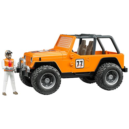 Bruder Jeep Cross Country Racer Vehicle with Driver Orange - Cross Country Vehicle
