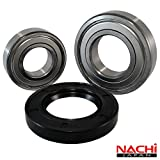 Front Load Bearings Washer Tub Bearing and Seal Kit with Nachi bearings, Fits Bosch Tub 245703 (Includes a 5 year replacement warranty and link to our'How To' videos)