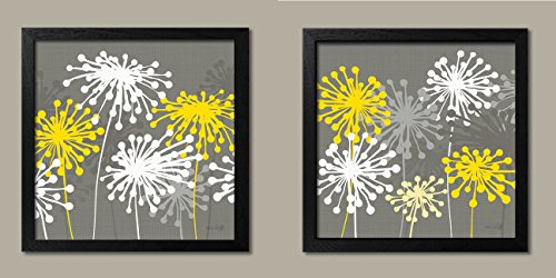 Yellow Dandelion Prints Floral 12x12in product image
