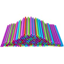 Drinking Straws, 250 Count BPA-Free Multi-Colored Disposable Straws, Assorted - DuraHome