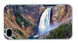 Hipster iPhone 4S coolest cases lower falls yellowstone park PC White for Apple iPhone 4/4S