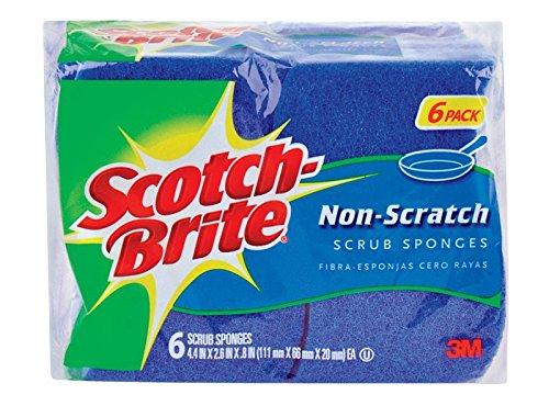 Scotch Brite 526-5 Scotch-Brite Multi Purpose Non Scratch Scrub Sponge 6 Count, Pack of 3 by 3M