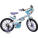"""Bicicleta Aro Frozen Disney Bandeirante Branco 16"""""""