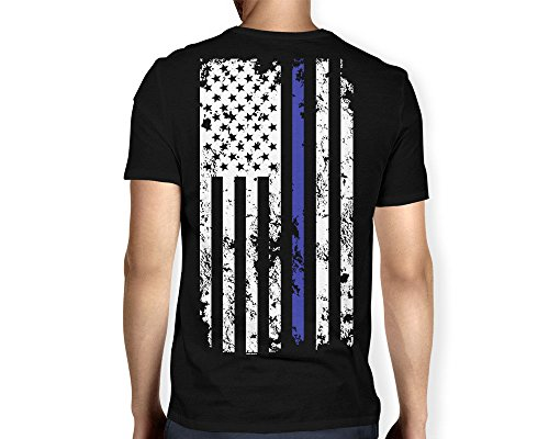 Mens Thin Blue American T shirt