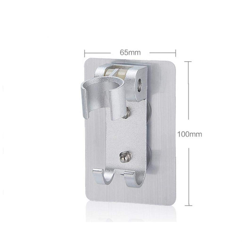 Adjustable Wall Mounted Aluminum Shower Head Holder Bathroom Support Holder Hook Base