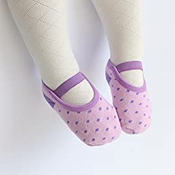 Toptim Baby Girl\'s Socks Anti Slip Skid Socks for Infants and Toddlers (5 Pairs)
