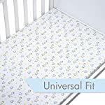 Premium-Fitted-Crib-Sheets-Set-2-Pack-100-Organic-Jersey-Cotton-Designed-for-Baby-Boy-or-Girl