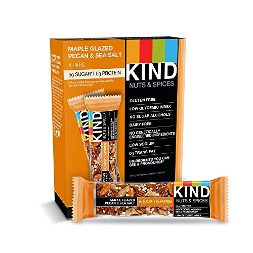 Pecan Maple Bar - KIND Bars, Maple Glazed Pecan & Sea Salt, Gluten Free, Low Sugar, 1.4oz, 4 Count