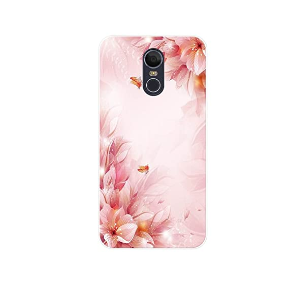 LG stylo 4 Case,Jilika TPU Soft Painted Patterns Full Protection of The  Phone Cover Case For LG stylo 4 (Flowers and butterflies)