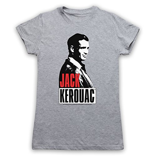 Jack Kerouac On The Road 2 Camiseta para Mujer Gris Claro