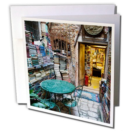 3dRose Danita Delimont - Venice Carnival - Store selling fabric for carnival costumes in Venice, Italy - 12 Greeting Cards with envelopes - Store Venice