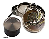 Sagittarius Zodiac Design Large Size Zinc Grinder With Your Name FREE - Gift Pack Item # 111315-245